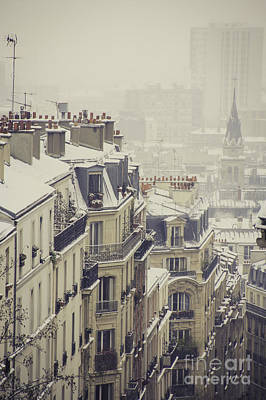 Paris Photograph - Rooftops Of Montmartre by Sophia Pagan