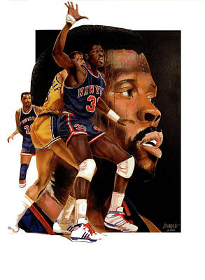 Patrick Ewing Painting - Rookie Faces Idol by Dwayne Lester
