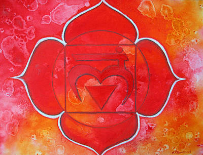 Tantra Painting - Root Chakra - Muladhara  by Mary Pumpelly-Knowland