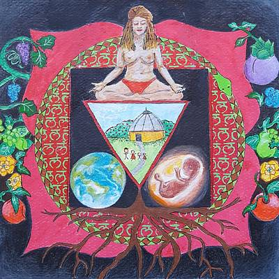Namaste Painting - Root Chakra by Nicole Bedy