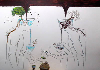 Painting - Roots Of Reflection by Lazaro Hurtado