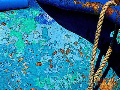 Mazatlan Photograph - Rope And Old Boat by Mexicolors Art Photography