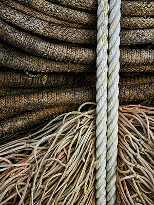 Rectangles Photograph - Ropes And Fishing Nets by Carol Leigh