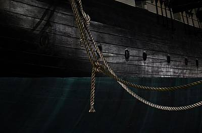 Ropes On The Uss Constellation Navy Ship Print by Marianna Mills