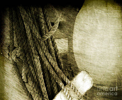 Antique Look Photograph - Ropes by Susanne Van Hulst