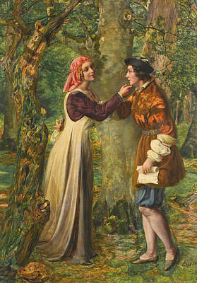 Painting - Rosalind Telling Celia That Orlando Is In The Forest by Edward William Rainford