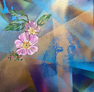 Painting - Rosario Dawson Birth Chart by Andrea LaHue
