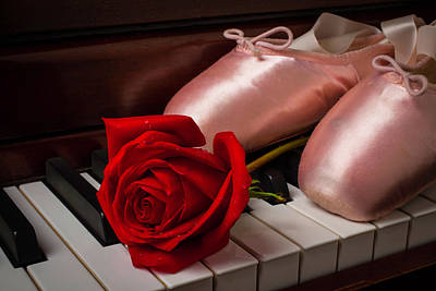 Rose And Ballet Shoes Print by Garry Gay