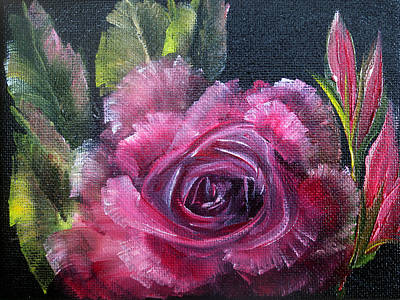 Acrylic Painting - Rose by Ann Marie Bone
