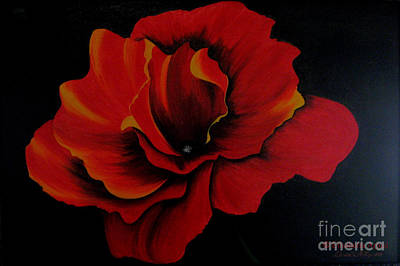 Elisabetta Artusi Painting - Rose by Betta Artusi