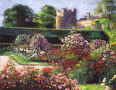Pathway Painting - Rose Castle by David Lloyd Glover