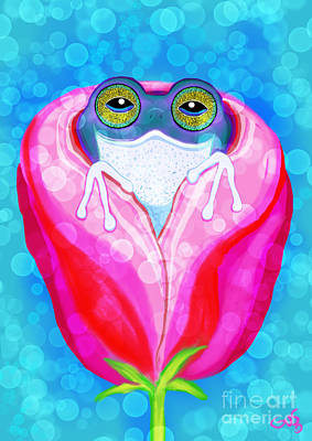 Painting - Rose City Rain Frog by Nick Gustafson