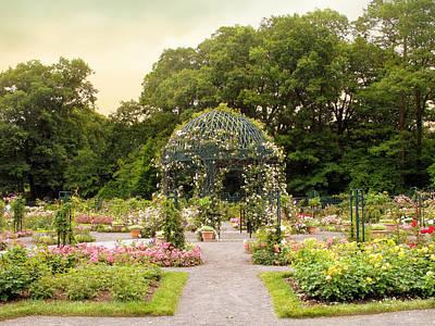 Walkway Digital Art - Rose Garden Gazebo by Jessica Jenney