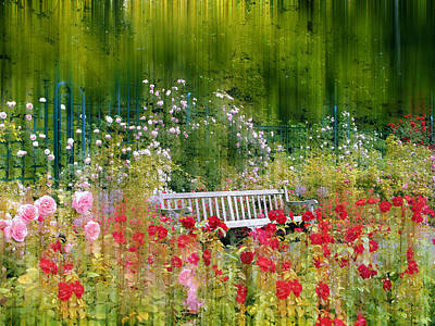 Rose Garden Impressions Print by Jessica Jenney
