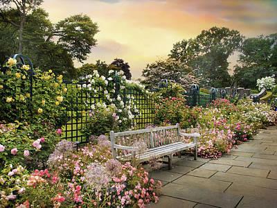 Walkway Digital Art - Rose Garden In June by Jessica Jenney