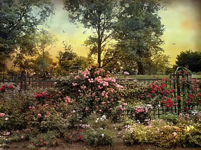 Rose Garden Trellis Print by Jessica Jenney