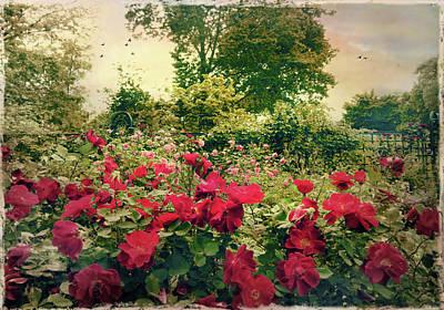 Walkway Digital Art - Rose Garden Vintage by Jessica Jenney