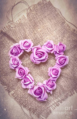 Rose Heart Print by Svetlana Sewell