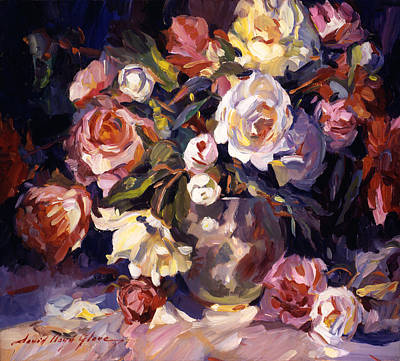 Pink Painting - Rose Impressions by David Lloyd Glover