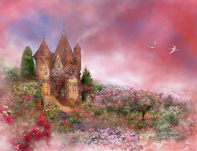 The Houses Mixed Media - Rose Manor by Carol Cavalaris