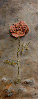Recycled Painting - Rose Of Regeneration by Kathryn Bell