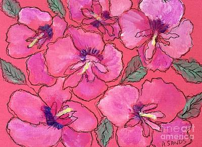 Rose Of Sharon Painting - Rose Of Sharon by Anne Sands