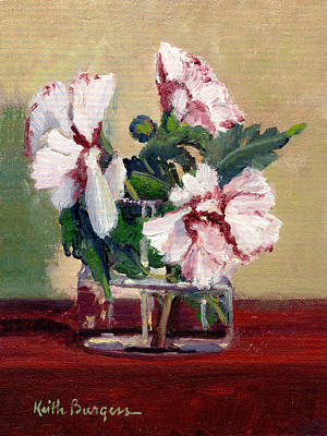 Rose Of Sharon Painting - Rose Of Sharon by Keith Burgess