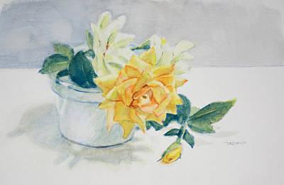 Still Life Painting - Rose Still Life by Christopher Reid