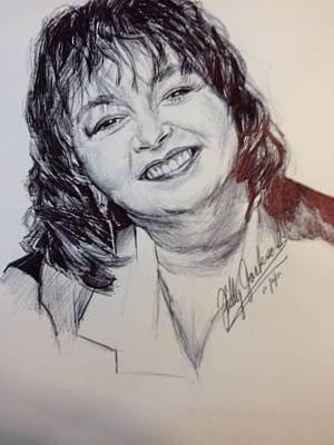 Roseanne Barr Print by Billy Jackson