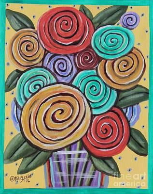 Roses 1 Print by Karla Gerard