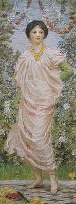 Roses Print by Albert Joseph Moore