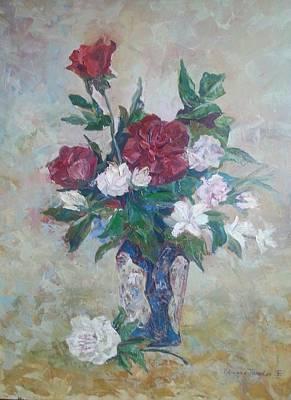 Roses Print by Edward Tomilov