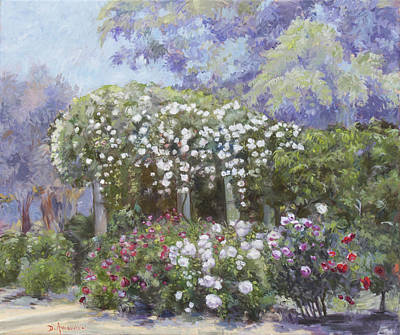 Painting - Roses In A Garden by Dominique Amendola