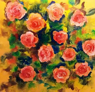 Roses In The Wild 2 Print by Patricia Taylor