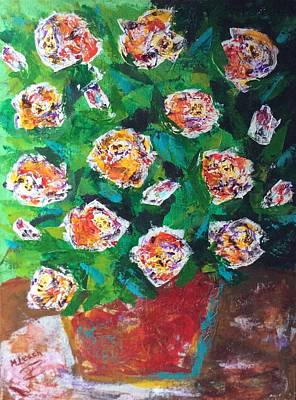 Roses On The Patio Original by Marlena Colino Leach