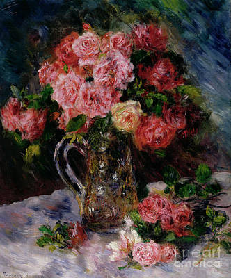 Arrangement Painting - Roses by Pierre Auguste Renoir