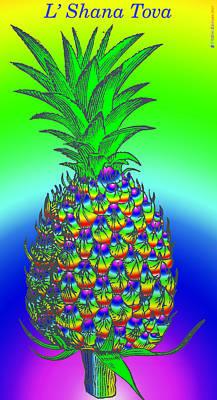 Rosh Hashanah Pineapple Print by Eric Edelman