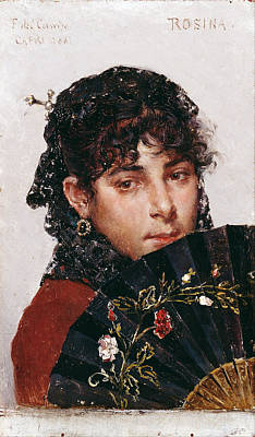 Federico Del Campo Painting - Rosina by Federico del Campo