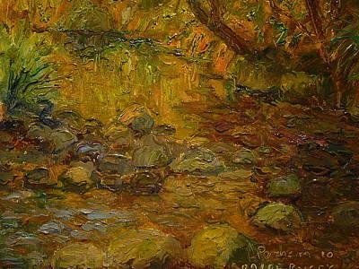 Painting - Ross Creek Dunedin by Terry Perham