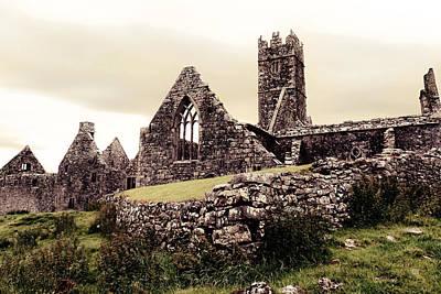 Celtic Photograph - Ross Errilly Friary Ruins by Menega Sabidussi