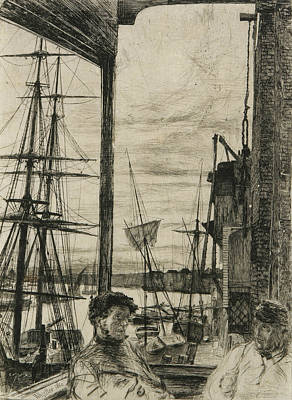 Tonalist Relief - Rotherhithe by James Abbott McNeill Whistler