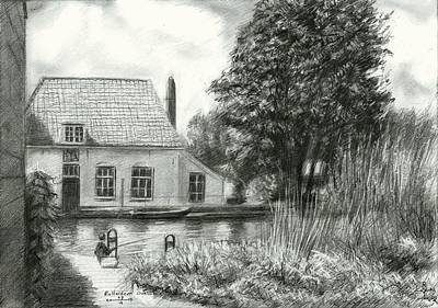 Nederland Drawing - Rotterdam Overschie - 26-07-15 by Corne Akkers