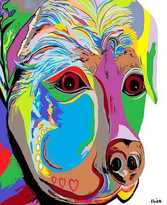 Whimsical Digital Art - Rottweiler by Eloise Schneider