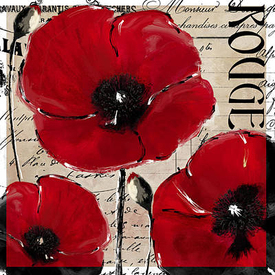 Rouge I Poppy Print by Mindy Sommers