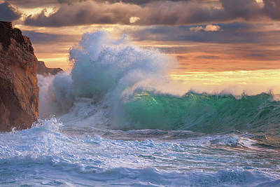 Sea Swell Photograph - Rough Sea 9 by Giovanni Allievi