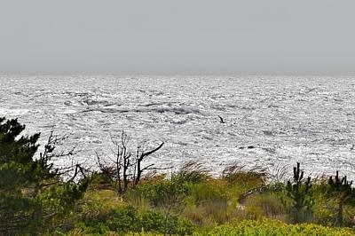 Rough Seas - Delaware State Park Print by Kim Bemis