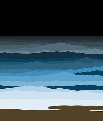 Rough Seas Print by Val Arie