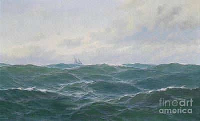 Nobody Drawing - Rough Seascape by Celestial Images