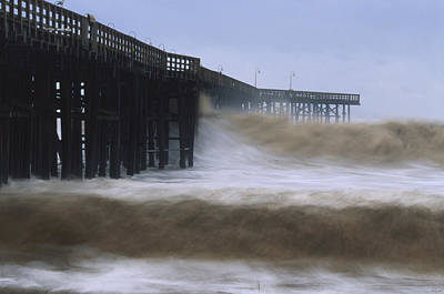 Rough Surf - Ventura Pier Print by Soli Deo Gloria Wilderness And Wildlife Photography