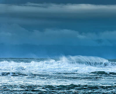 Dark Photograph - Rough Waters Off Iceland by Duane Miller